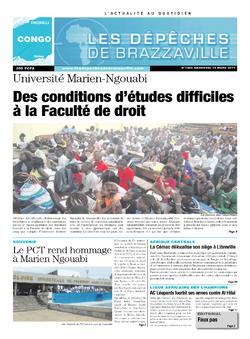 Les Dépêches de Brazzaville : Édition brazzaville du 19 mars 2014