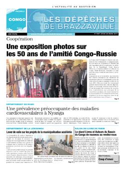 Les Dépêches de Brazzaville : Édition brazzaville du 20 mars 2014