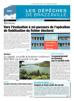 Les Dépêches de Brazzaville : Édition kinshasa du 20 mars 2014