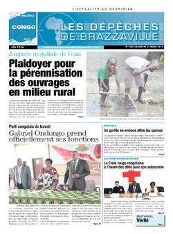Les Dépêches de Brazzaville : Édition brazzaville du 21 mars 2014