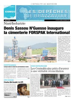 Les Dépêches de Brazzaville : Édition brazzaville du 24 mars 2014