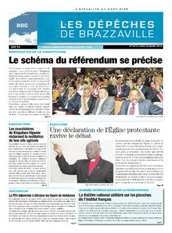 Les Dépêches de Brazzaville : Édition kinshasa du 24 mars 2014