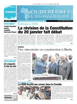 Les Dépêches de Brazzaville : Édition brazzaville du 25 mars 2014