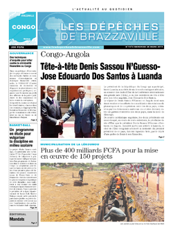 Les Dépêches de Brazzaville : Édition brazzaville du 26 mars 2014