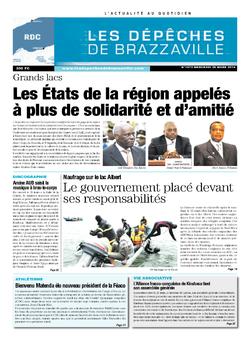 Les Dépêches de Brazzaville : Édition kinshasa du 26 mars 2014