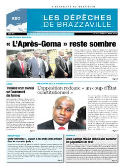 Les Dépêches de Brazzaville : Édition kinshasa du 27 mars 2014