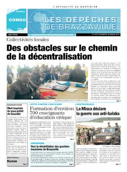 Les Dépêches de Brazzaville : Édition brazzaville du 28 mars 2014
