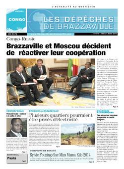 Les Dépêches de Brazzaville : Édition brazzaville du 31 mars 2014