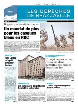 Les Dépêches de Brazzaville : Édition kinshasa du 31 mars 2014