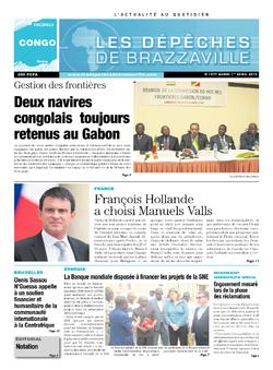 Les Dépêches de Brazzaville : Édition brazzaville du 01 avril 2014