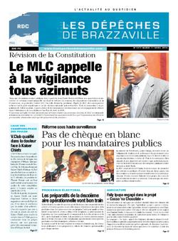 Les Dépêches de Brazzaville : Édition kinshasa du 01 avril 2014