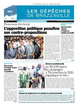Les Dépêches de Brazzaville : Édition kinshasa du 02 avril 2014