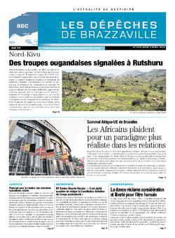 Les Dépêches de Brazzaville : Édition kinshasa du 03 avril 2014