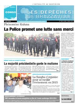Les Dépêches de Brazzaville : Édition brazzaville du 07 avril 2014