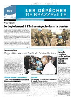 Les Dépêches de Brazzaville : Édition kinshasa du 07 avril 2014