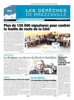Les Dépêches de Brazzaville : Édition kinshasa du 08 avril 2014