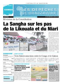 Les Dépêches de Brazzaville : Édition brazzaville du 09 avril 2014