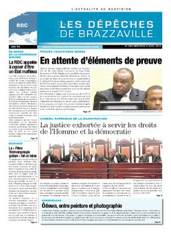 Les Dépêches de Brazzaville : Édition kinshasa du 09 avril 2014