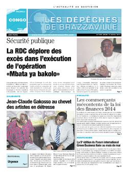 Les Dépêches de Brazzaville : Édition brazzaville du 10 avril 2014