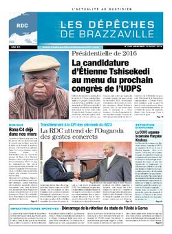 Les Dépêches de Brazzaville : Édition kinshasa du 10 avril 2014