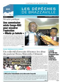 Les Dépêches de Brazzaville : Édition kinshasa du 11 avril 2014