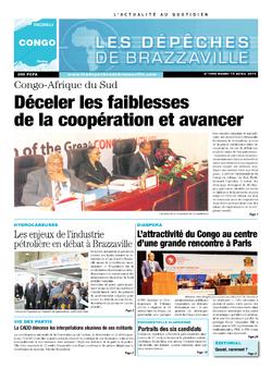 Les Dépêches de Brazzaville : Édition brazzaville du 15 avril 2014