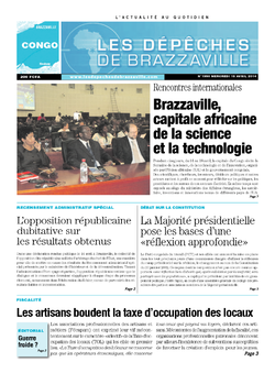 Les Dépêches de Brazzaville : Édition brazzaville du 16 avril 2014
