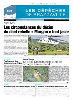Les Dépêches de Brazzaville : Édition kinshasa du 17 avril 2014