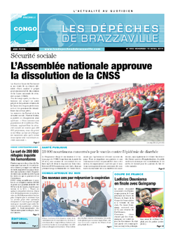 Les Dépêches de Brazzaville : Édition brazzaville du 18 avril 2014