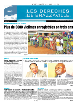 Les Dépêches de Brazzaville : Édition kinshasa du 18 avril 2014