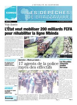 Les Dépêches de Brazzaville : Édition brazzaville du 22 avril 2014