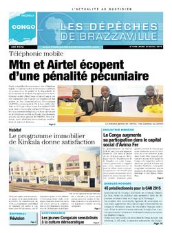 Les Dépêches de Brazzaville : Édition brazzaville du 24 avril 2014