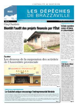 Les Dépêches de Brazzaville : Édition kinshasa du 24 avril 2014