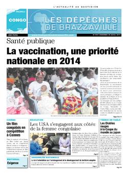 Les Dépêches de Brazzaville : Édition brazzaville du 25 avril 2014