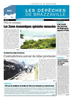 Les Dépêches de Brazzaville : Édition kinshasa du 25 avril 2014