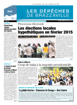 Les Dépêches de Brazzaville : Édition kinshasa du 28 avril 2014