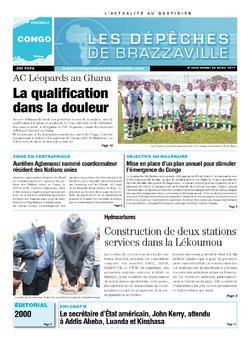 Les Dépêches de Brazzaville : Édition brazzaville du 29 avril 2014