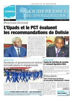 Les Dépêches de Brazzaville : Édition brazzaville du 02 mai 2014