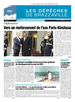 Les Dépêches de Brazzaville : Édition kinshasa du 02 mai 2014