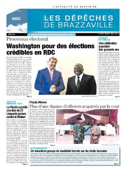 Les Dépêches de Brazzaville : Édition kinshasa du 06 mai 2014