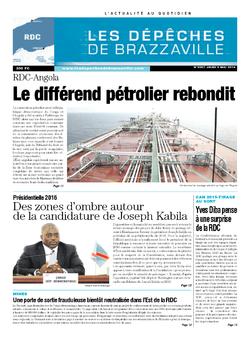 Les Dépêches de Brazzaville : Édition kinshasa du 08 mai 2014