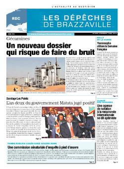 Les Dépêches de Brazzaville : Édition kinshasa du 09 mai 2014