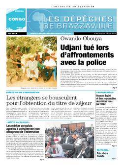 Les Dépêches de Brazzaville : Édition brazzaville du 12 mai 2014