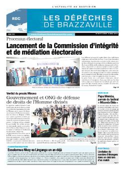 Les Dépêches de Brazzaville : Édition kinshasa du 12 mai 2014