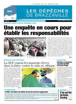 Les Dépêches de Brazzaville : Édition kinshasa du 13 mai 2014