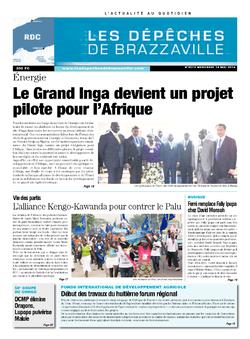 Les Dépêches de Brazzaville : Édition kinshasa du 14 mai 2014