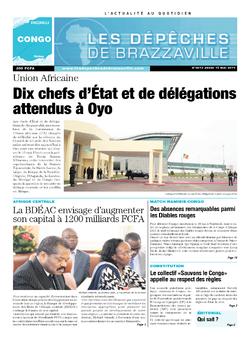 Les Dépêches de Brazzaville : Édition brazzaville du 15 mai 2014