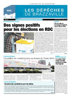 Les Dépêches de Brazzaville : Édition kinshasa du 15 mai 2014