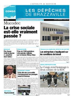 Les Dépêches de Brazzaville : Édition brazzaville du 16 mai 2014