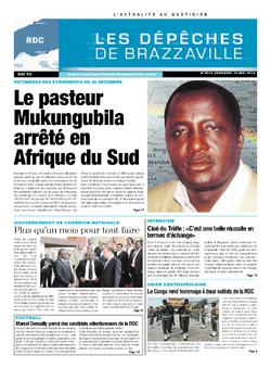 Les Dépêches de Brazzaville : Édition kinshasa du 16 mai 2014
